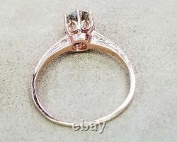 14K ROSE GOLD Vintage Diamond engagement ROUND OLD MINE CUT CUT 0.72CT SI2-K