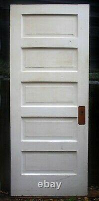 17 available 30x78 Antique Vintage Old SOLID Wood Wooden Interior Door 5 Panel