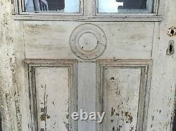 1 Antique Exterior Double Arch Top 35x83 Entryway Door Vintage Old 450 -21B