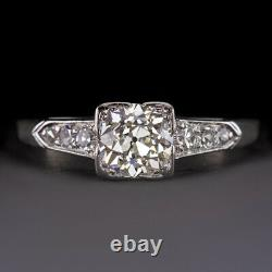 1ct Vs Old European Cut Diamond Platinum Engagement Ring Vintage Antique Classic