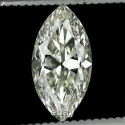 2.18ct VINTAGE OLD MARQUISE CUT DIAMOND CERTIFIED I SI2 ANTIQUE LOOSE ENGAGEMENT