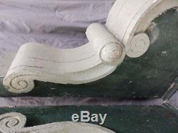 2 Large Antique Wood Entrance Corbels Gingerbread Shabby Vtg Chic Old 1771-16