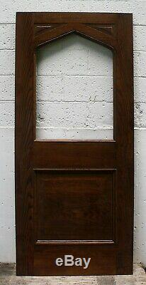 34x80 Antique Vintage Old SOLID CHESTNUT Wood Wooden Exterior Entry Door Window