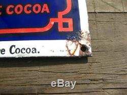 38270 Old Antique Vintage Enamel Sign Shop Advert Cadbury's Cocoa Tin Can Box