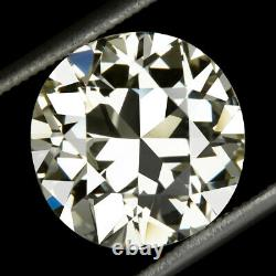 4.70ct 11mm CERTIFIED VS2 OLD CUT DIAMOND VINTAGE ANTIQUE TRANS EUROPEAN 5 CARAT