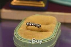 Antique 14K yellow gold 5 stone. 56 tcw old mine diamond ring sz 4.75 sizable