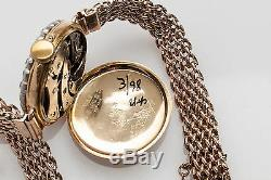 Antique 1800s $8000 3ct Old Euro VS G Diamond Platnum 18k Gold Ladies Watch RARE