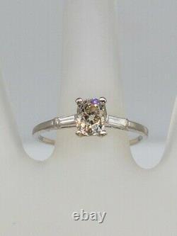 Antique 1920s $7000 1.50ct VS1 L Old Old Cushion Cut Diamond Platinum Ring