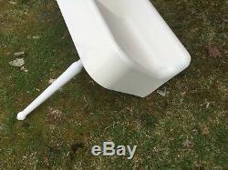 Antique 75 Cast Iron White Porcelain Kitchen Farm Sink with Legs Old Vtg 51-19E