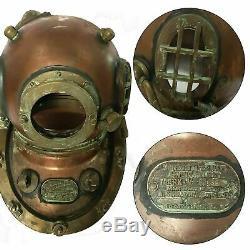 Antique Morse 18 Diving Old Vintage Boston MARK VI Navy Deep Sea Divers Helmet