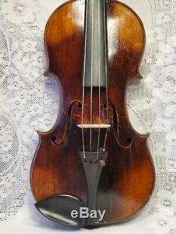 Antique Old Vintage Violin 4/4 Size Richard Ribus Maker Nice Sound