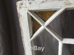 Antique Stained Colored Glass Transom Window Sash 23x40 Old Shabby Vtg 543-18E