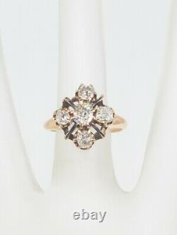 Antique Victorian 1870s $5000 2ct VS H Old Mine Cut Diamond 14k Yellow Gold Ring