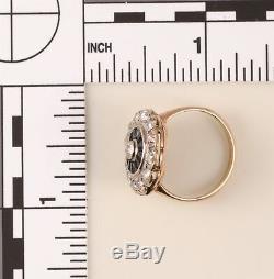 Antique Victorian Circa 1860 One Carat Old Mine Cut Diamond 14K Ring
