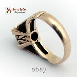 Antique Victorian Old Mine Cut Diamond Ring 14 K Rose Gold