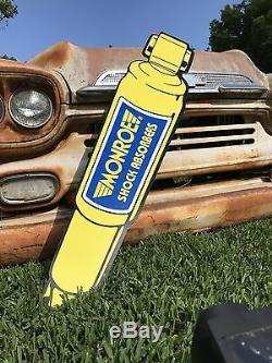 Antique Vintage Old Style Monroe Shock Sign