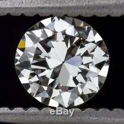 Certified D Vs1 Old Cut Diamond 1/2 Carat Vintage Antique Transitional European