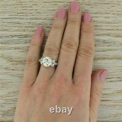 EDWARDIAN 3.22ct OLD EUROPEAN CUT DIAMOND ENGAGEMENT RING Platinum c 1910