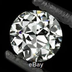 E VVS2 OLD EUROPEAN CUT DIAMOND GIA CERTIFIED VINTAGE ANTIQUE 4.8mm ENGAGEMENT