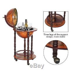 Globe Wine Liquor Bar Rack Cabinet Nautical Old Italian Style Bottle Holder