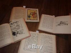 LOT old 10 Vintage antique set wizard of oz book collection Baum collection