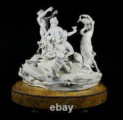 Large Antique Sevres Bisque Porcelain Sculpture Group Dionisius 19th century Old