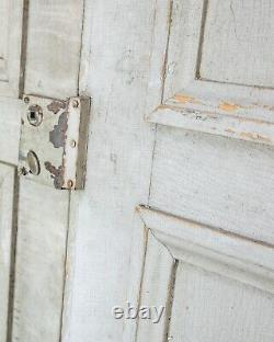 Large Vintage French Old Paint Shutters Chateau Doors