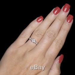 OLD EUROPEAN CUT DIAMOND VINTAGE ENGAGEMENT RING G SI2 PLATINUM ANTIQUE 0.84ct