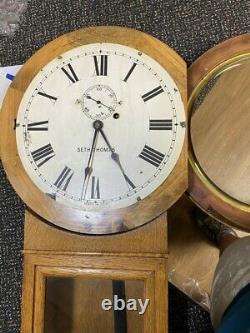 Old Antique Seth Thomas Weight Driven, No. 2 Regulator Wall Clock