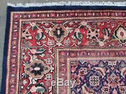 Old Hand Made Traditional Vintage Rugs Oriental Wool Blue Large Carpet 403x279cm