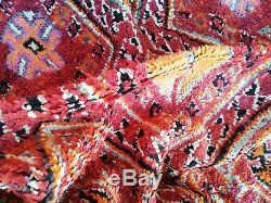 Old Vintage Moroccan Handmade Boujad Boujaad Rug Beni Ourain rug Azilal rug 6x9