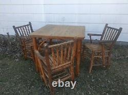 Old hickory Adirondack rustic bar stools porch camp dresser glider swing beds