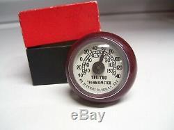 Original 1950' s Vintage nos mint Tel-tru dash Thermometer gauge old Rat Hot rod