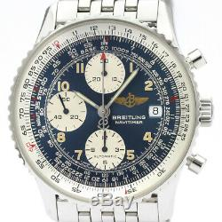 Polished BREITLING Old Navitimer Steel Automatic Mens Watch A13022 BF505558