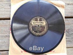 RARE ANTIQUE BLUEGRASS OLD-TIME SINGING With BANJO JOHN HAMMOND 78 RPM RECORD
