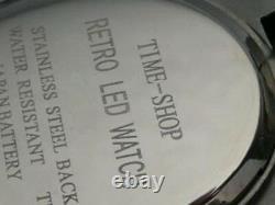 SILVER KOJAK TELLY SAVALAS 70s Old Vintage Style LED DIGITAL Rare Retro Watch