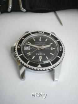 Sicura diver big 42 mm. Men's Breitling new old stock vintage wrist watch