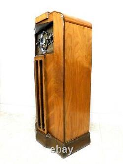 VINTAGE 1930s OLD RESTORED MIDWEST ULTRA ART DECO DEPRESSION ERA ANTIQUE RADIO