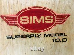 Vintage 1978 Sims Superply 10.0 Pig Old School Skateboard Bowman Alva Dogtown