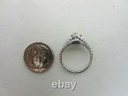 Vintage Antique Platinum 0.89 ct Diamond Engagement Ring 0.97 ct TW Old Mine Cut