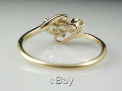 Vintage Diamond Ring Art Deco Three Stone Old European Cut Antique Estate. 77tw