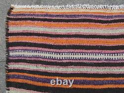 Vintage Old Traditional Hand Made Oriental Wool Blue Red Large Kilim 230x148cm
