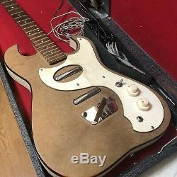 Vintage Silvertone 1457 Guitar WithAmp In Case Please Read Project As Is Parts Old
