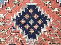 Vintage Soumak Kilim Rug shabby vintage old wool country home Kelim 160x106cm