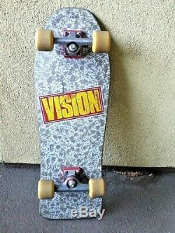 Vintage Vision PUNK SKULLS complete 80s old-school skateboard 1986 Independent