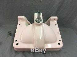 Vtg Ceramic 1957 Crane Drexel Pink Bathroom Sink Original Faucet Old 757-17E