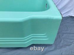 Vtg Mid Century Deco Cast Iron Jadeite Ming Green Bathroom Old Bathtub 212-21E