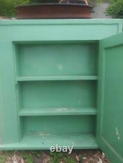 100 + Ans Vintage Detroit Wood Medicine Cabinet Insert Avec Miroir Biseauté