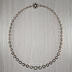 13.09ct Vintage Old European Cut Diamond Mine Riviera Collier 18k Or Antique