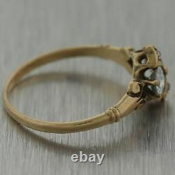 1880's Antique Victorian 14k Yellow Gold 0.50ctw Old Mine Cut Ring